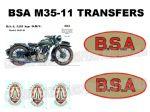 BSA M35-11 1930's Transfer Decal Set DBSA152